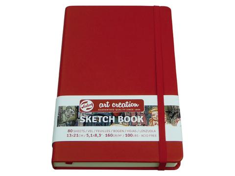 Скетчбук для смешанных техник Art Creation 160г/кв.м А5 80л твердая обложка красный