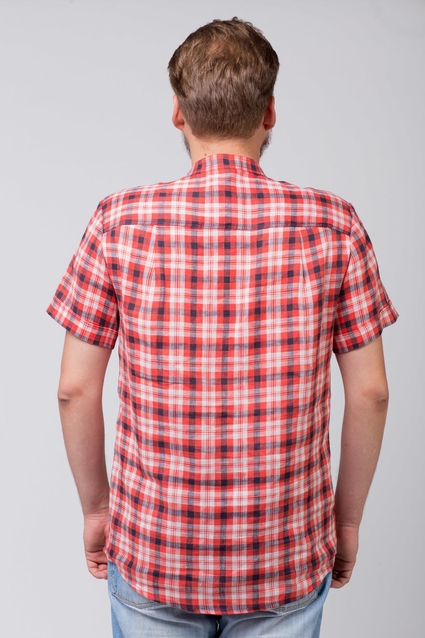 Рубашка льняная Амурская вид сзади