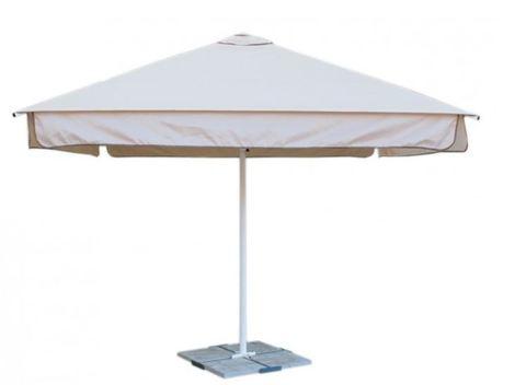 Зонт Митек 3,0х3,0 м с воланом (стальной каркас с подставкой, стойка 50мм, 4 спицы 25х25мм, тент OXF 300D)