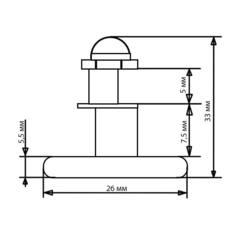 Ролик для душевой кабины B-06-B 26 мм (рис.4)