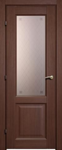 Дверь ДО 6324 с/о Пико (танганика, остекленная CPL), фабрика Краснодеревщик