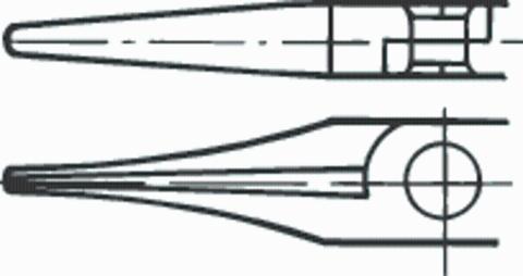Юстировочные плоскогубцы, форма B с плоскими широкими губками, прямые 140 мм