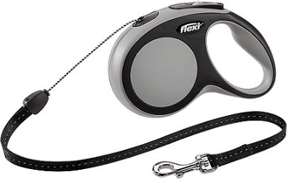 Рулетки Поводок-рулетка Flexi New Comfort S (до 12 кг) трос 5 м черный/серый 3a3b3716-3795-11e6-80f8-00155d29080b.png
