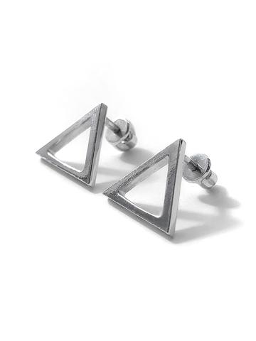 Серьги пусеты сквозной треугольник