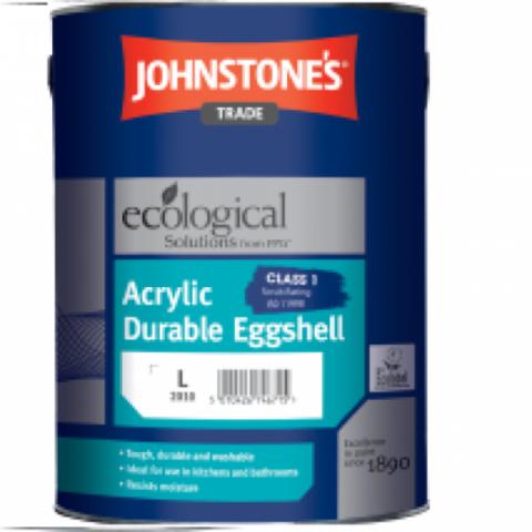 JOHNSTONE'S ACRILYC DURABLE EGGSHELL/ДЖОНСТОУНС Акриловая матовая краска c легким блеском для внутренних работ