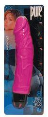 Многоскоростной розовый вибратор-реалистик PURE STUD PINK - 20,3 см.