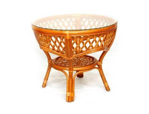 Стол кофейный из ротанга Melang
