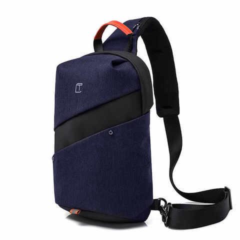 Рюкзак однолямочный молодёжный Tangcool TC907 тёмно-синий