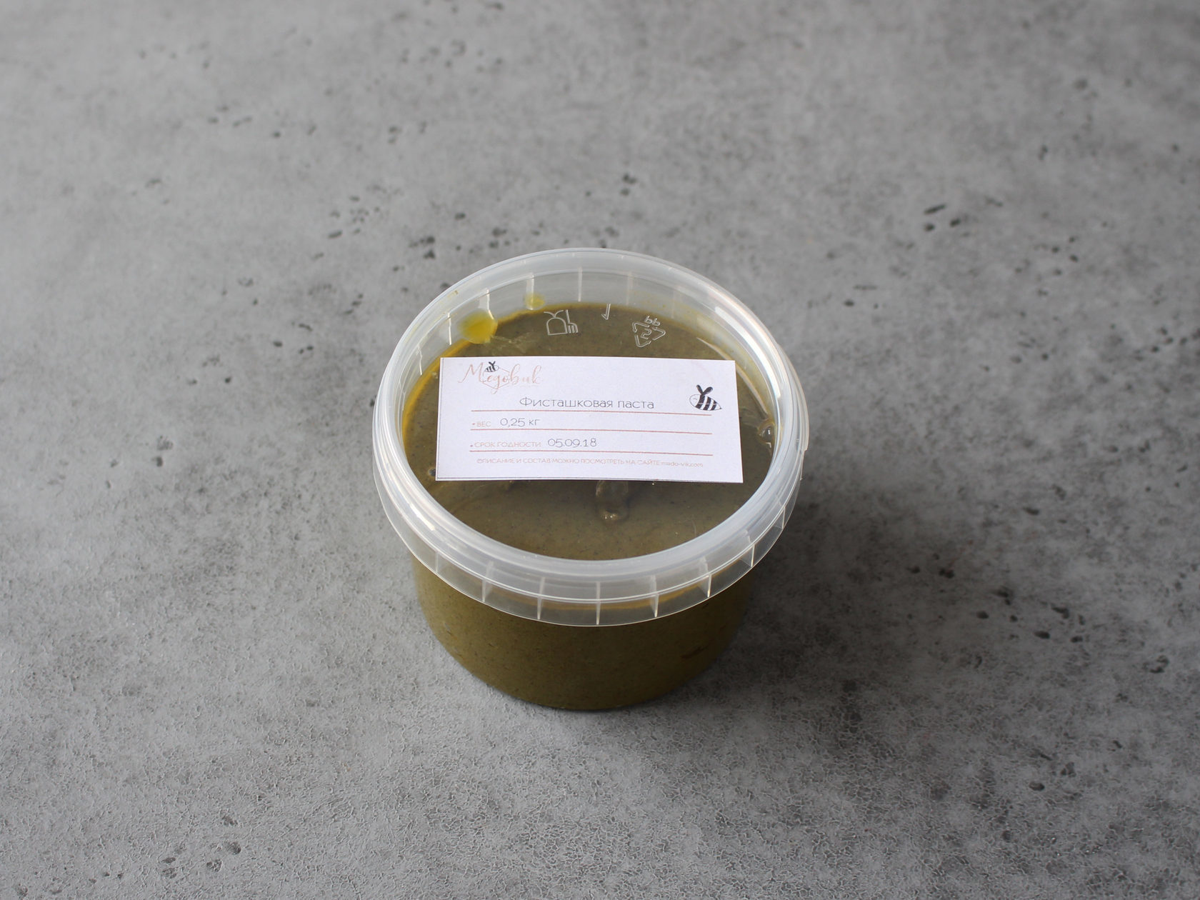 Фисташковая паста натуральная (100%), 250 гр