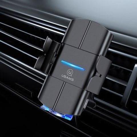 Автомобильный держатель с беспроводной зарядкой Usams CD133 10w /black/