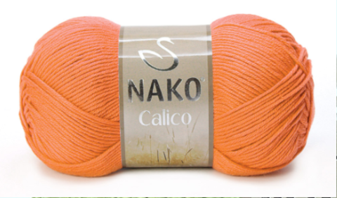 Пряжа Nako Calico оранжевый 4570