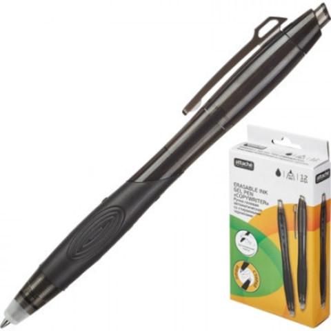 Ручка гелевая со стираемыми чернилами Attache Selection EGP1608 черная (толщина линии 0.5 мм)
