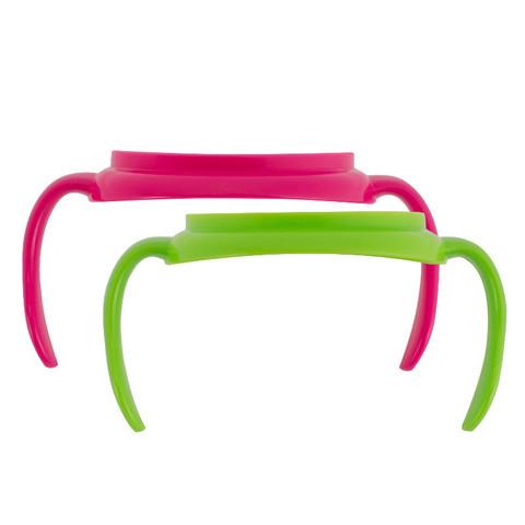 Ручки для чашек - розов./зелен., набор из 2 шт (стандарт)