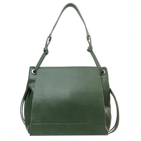 Мягкая сумка-шоппер зеленого цвета