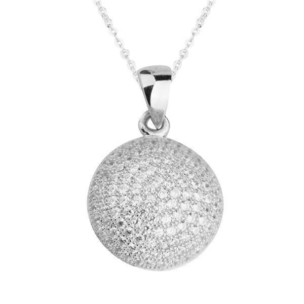 Кулон из серебра с цирконами