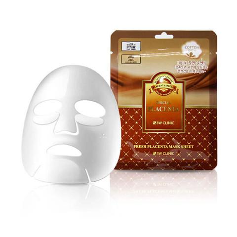 Тканевая маска для лица с экстрактом плаценты 3W CLINIC Fresh Placenta Mask Sheet 23 мл