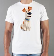 Футболка с принтом мультфильма Тайная жизнь домашних животных ( The Secret Life of Pets) белая 003