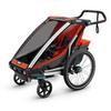 Картинка коляска Thule Chariot Cross1 темно-оранжевая