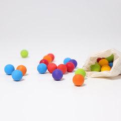 35 деревянных шариков в мешочке 7 цветов, 20мм (Grimms)