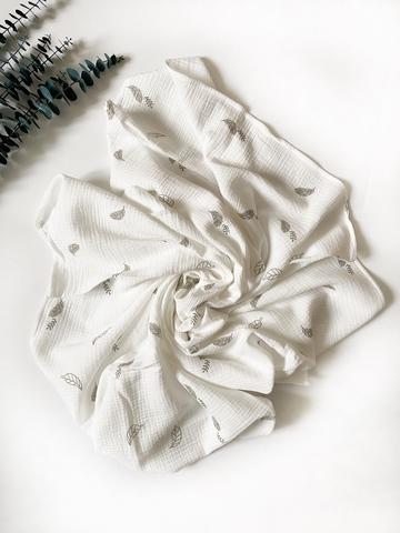 Муслиновая пеленка Листики