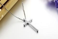Небольшой крестик с цепочкой Steelman mn00774