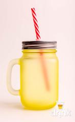 Матовая баночка для смузи - Желтая, фото 4