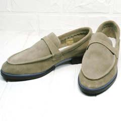 Светлые лоферы туфли на низком ходу женские Osso 2668 Beige.