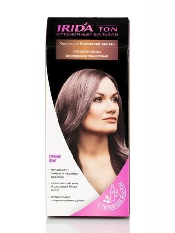 Irida Irida Ton Оттеночный бальзам для окраски волос Терпкий кофе 2*25мл
