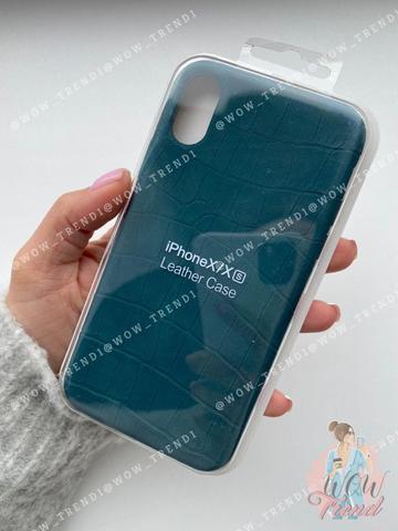 Чехол iPhone 7/8 Plus Leather case full /green/