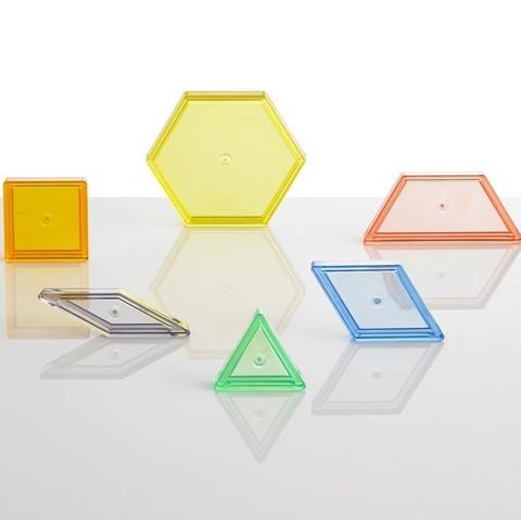 Счетный материал Прозрачные геометрические фигуры, контейнер, Edx Education, арт. 22108J