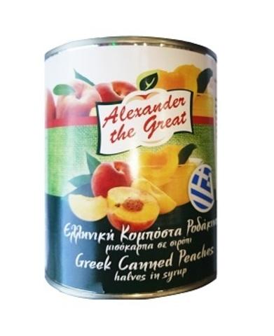 Консервированные половинки персиков в сиропе Alexander the Great 820 гр
