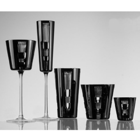 Набор из 6-х фужеров для шампанского Champagne 110 мл, артикул 65657. Серия Retro Black