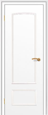 Дверь ДГ 201 (белый, глухая CPL), фабрика Краснодеревщик
