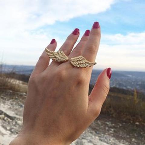 Кольцо Крылья (золотые)