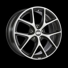 Диск колесный BBS SR 7.5x17 5x108 ET45 CB70.0 volcano grey/diamond cut