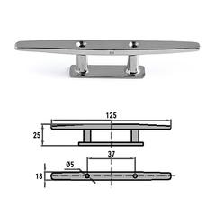 Утка швартовая 125 мм