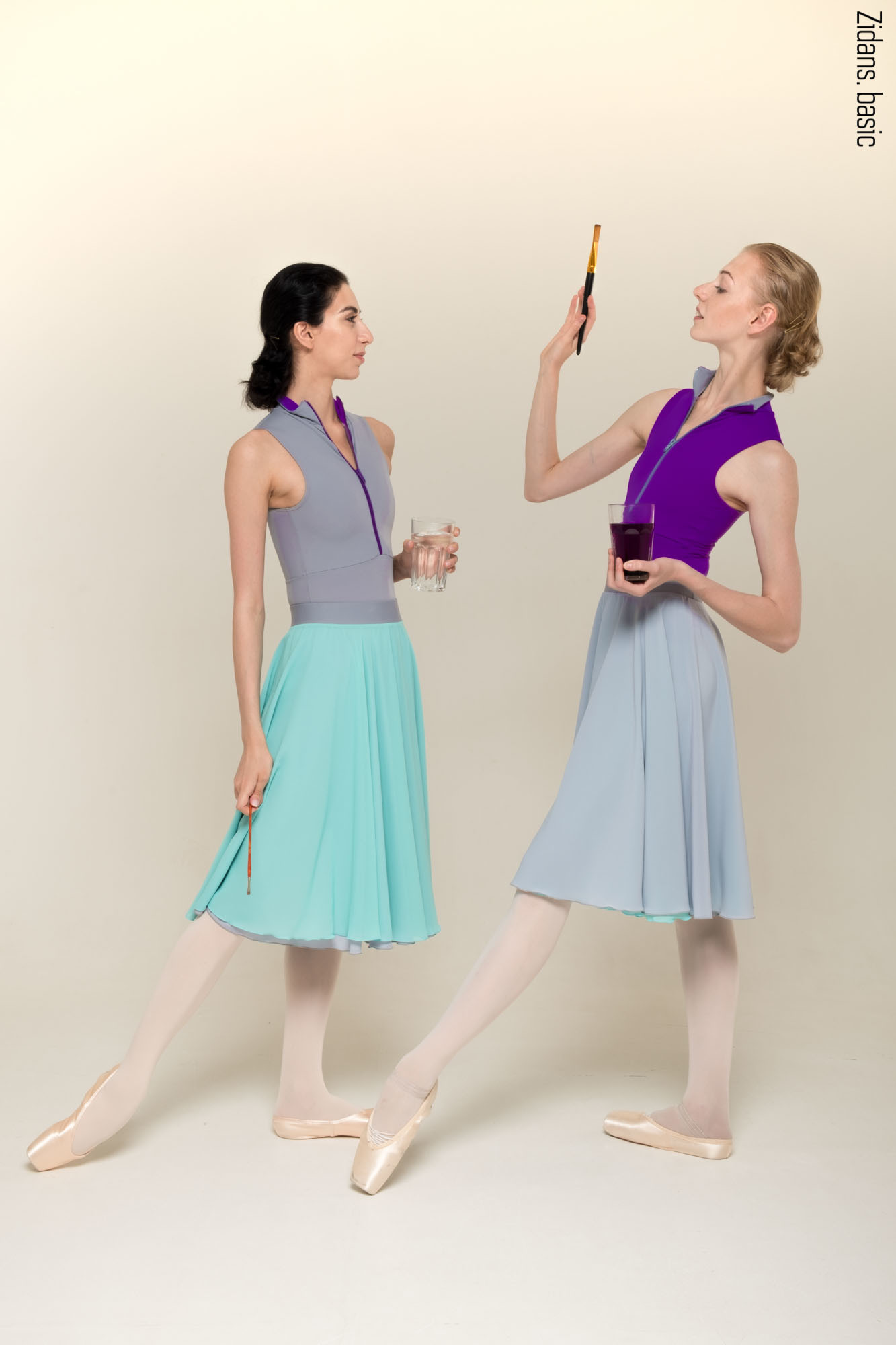 H2O two-sided rehearsal skirt