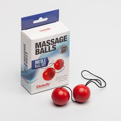 Вагинальные шарики (пластик, на веревочке) красный