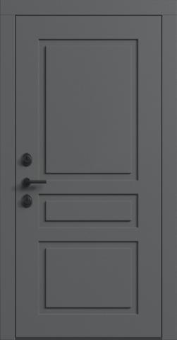 Входная дверь «NEO Classic 3» в цвете, Эмаль грэй