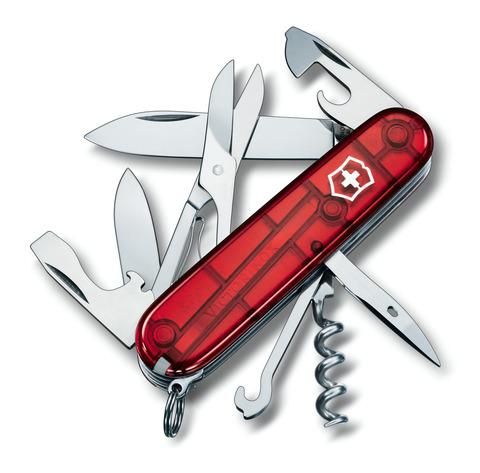 Складной нож Victorinox Climber Red Trans (1.3703.T) 91 мм., 14 функций, полупрозрачный красный - Wenger-Victorinox.Ru