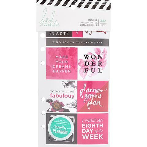 Стикербук - Heidi Swapp Memory Planner Cardstock Stickers - Fresh Start, Elegant -382 шт
