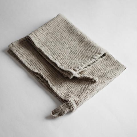 Вафельное полотенце натуральное