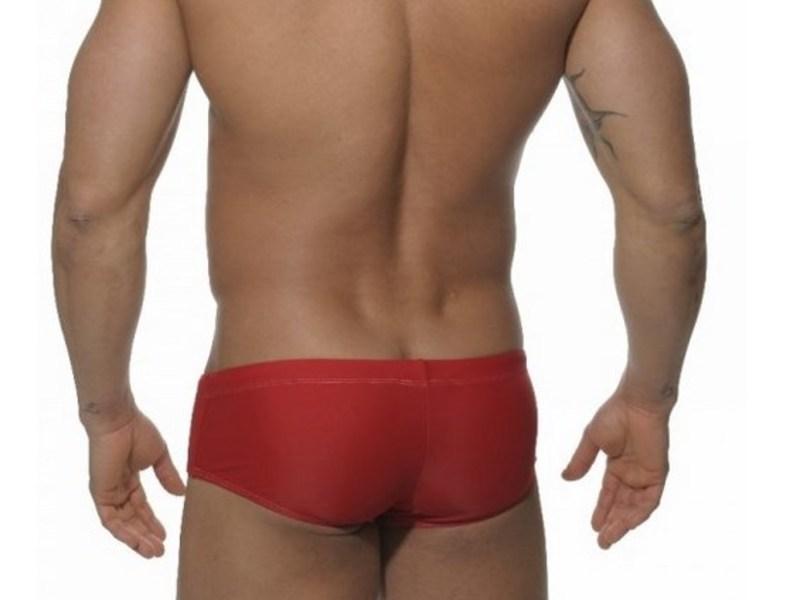 Мужские плавки брифы красные с белой вставкой Addicted