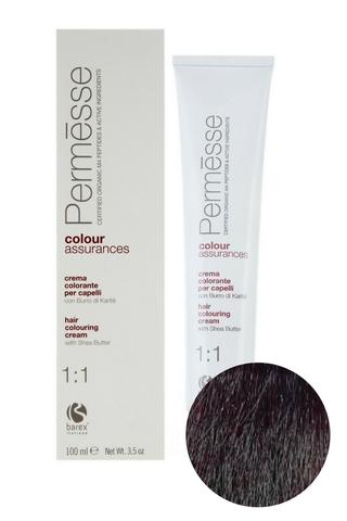 Крем-краска для волос 4.5 Каштан махагоновый Permesse, Barex