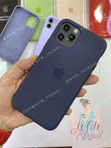 Чехол iPhone 11 Pro Silicone Case /midnight blue/ темно-синий original quality
