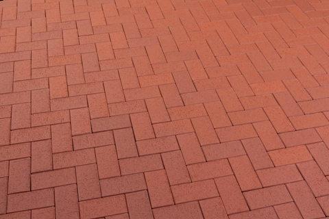Feldhaus Klinker - P402KDF, Gala plano, красный с оттенками, 200x100x52 - Клинкерная тротуарная брусчатка