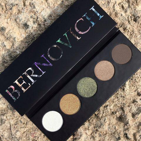 Bernovich Stone collection Тени для век Jade (5 тонов) 7,5г