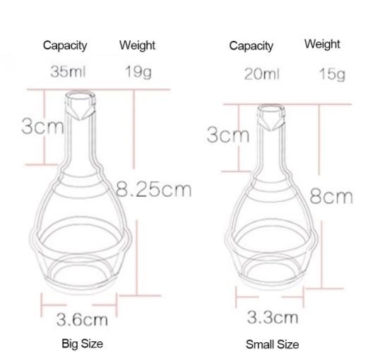 размеры менструальной чаши Viola