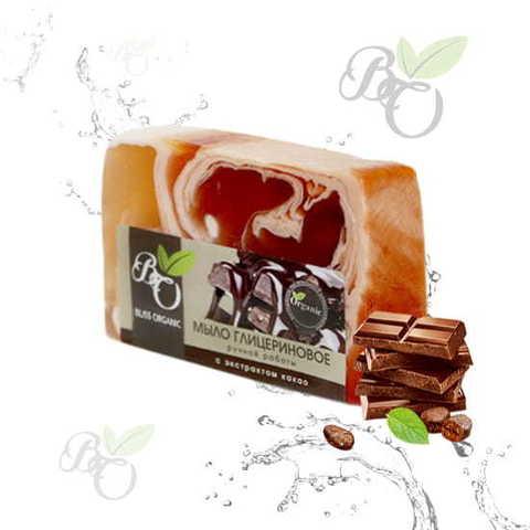 Глицериновое мыло ручной работы «Какао», Bliss organic 100 гр