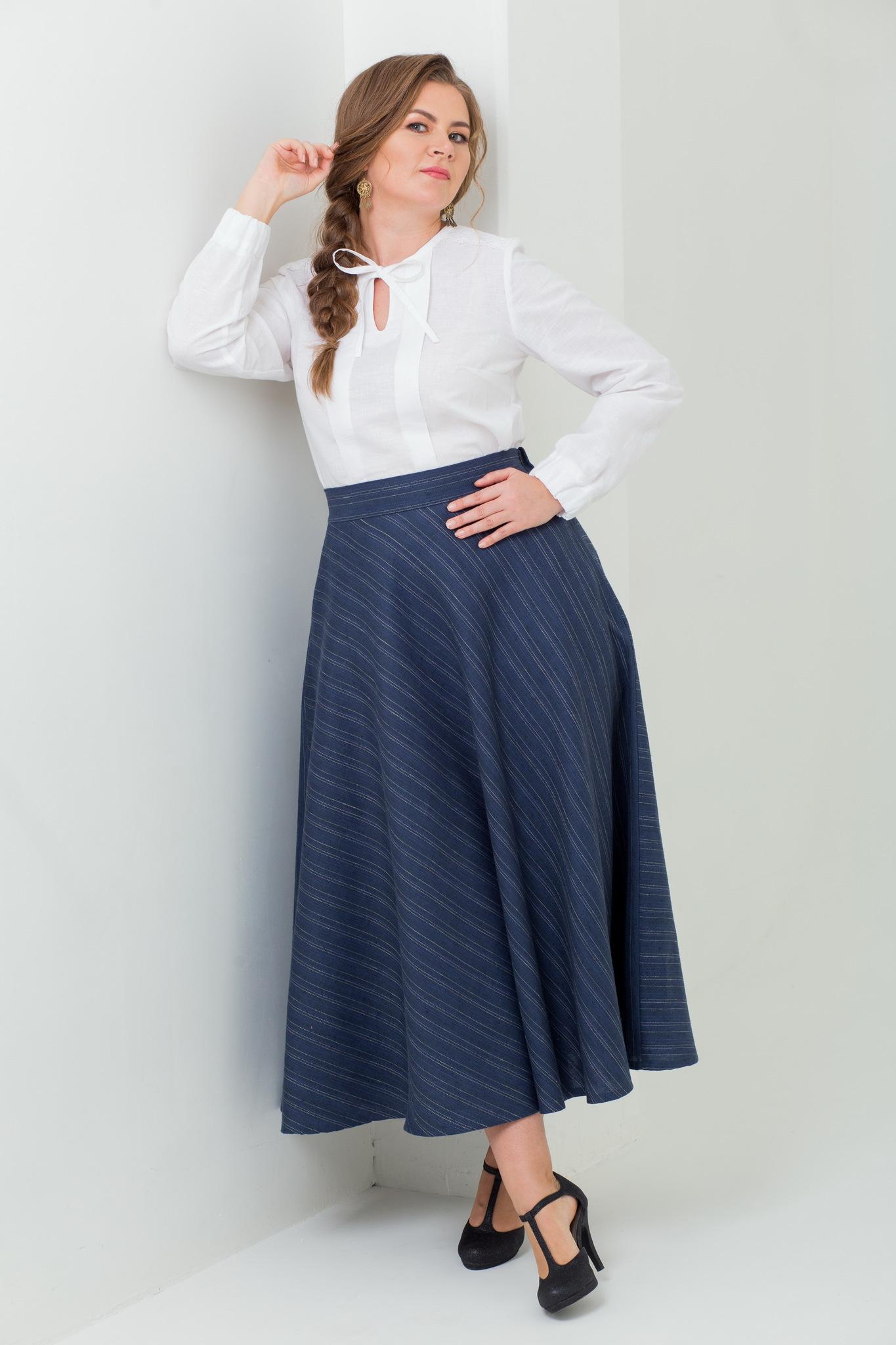 Тёплая юбка миди с карманами Тёмные аллеи